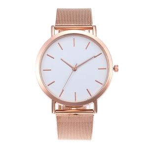 Rose Gold White Face Watch
